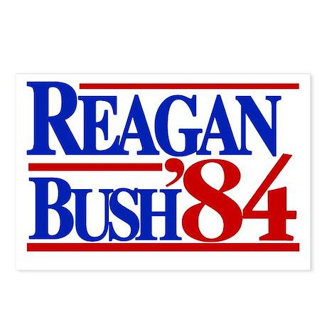 Reagan Bush 1984 Postcards (Package of 8)
