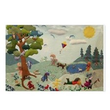 Gnome Playground Postcards (Package of 8)