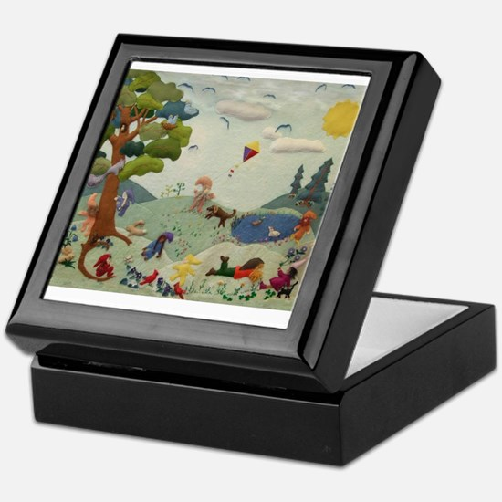 Gnome Playground Keepsake Box