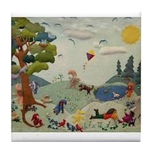 Gnome Playground Tile Coaster