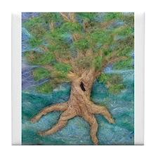 Summer Tree Tile Coaster