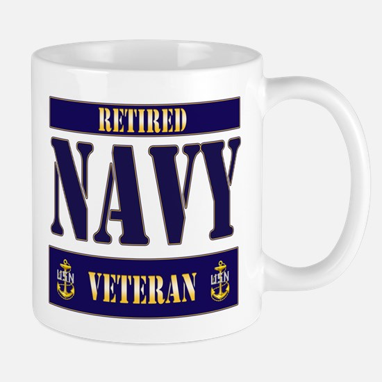 Retired Navy Veteran Mug