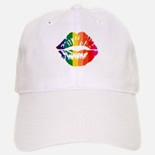 Rainbow Kiss Baseball Baseball Cap