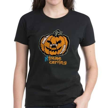 Xtreme Pumpkin Carving Women's Dark T-Shirt