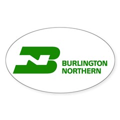 Burlington Northern Oval Sticker (10 pk)