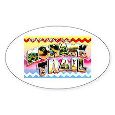 Mohawk Trail Massachusetts Oval Bumper Stickers