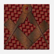 The Old Masonic Symbol Tile Coaster