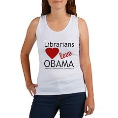 Librarians Love Obama Women's Tank Top