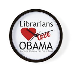 Librarians Love Obama Wall Clock