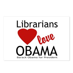 Librarians Love Obama Postcards (Package of 8)