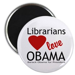 Librarians Love Obama Magnet