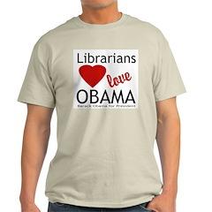 Librarians Love Obama T-Shirt