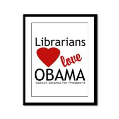 Librarians Love Obama Framed Panel Print
