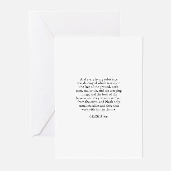GENESIS  7:23 Greeting Cards (Pk of 10)