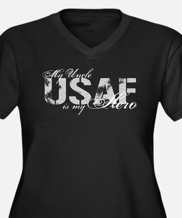 Uncle is my Hero USAF Women's Plus Size V-Neck Dar