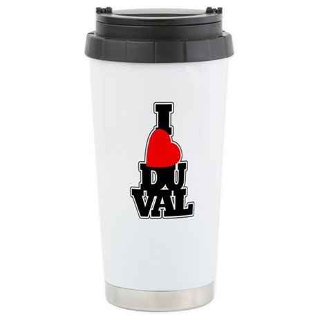 I Love Duval Stainless Steel Travel Mug