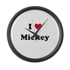 I love Mickey Large Wall Clock