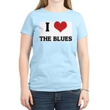 I Love the Blues Women's Pink T-Shirt