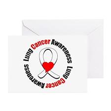 LungCancerAwarenessHeart Greeting Cards (Pk of 10)