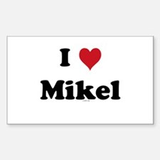 I love Mikel Rectangle Decal