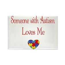 Autism Love Awareness Puzzle Heart Rectangle Magne