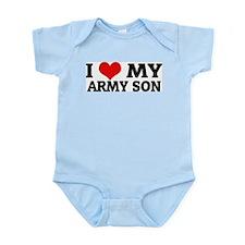 I Love My Army Son Infant Creeper