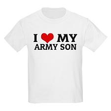 I Love My Army Son Kids T-Shirt