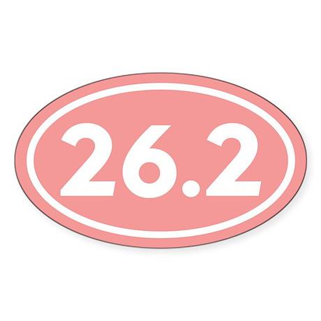 26.2 Marathon Oval Oval Sticker
