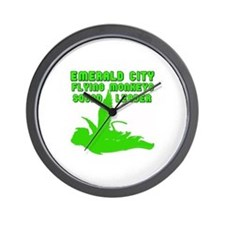 emerald city monkeys Wall Clock