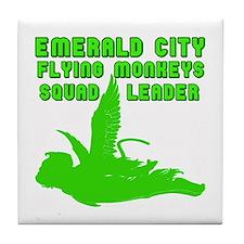 emerald city monkeys Tile Coaster