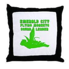 emerald city monkeys Throw Pillow