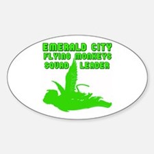 emerald city monkeys Oval Decal