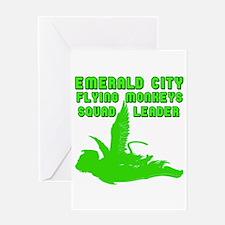 emerald city monkeys Greeting Card