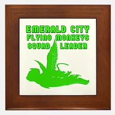 emerald city monkeys Framed Tile