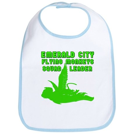 emerald city monkeys Bib