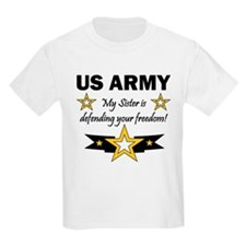 US Army Sister Patriotic Kids T-Shirt