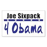 Joe 4 Obama Rectangle Sticker