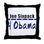 Joe 4 Obama Throw Pillow
