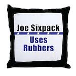 Joe: No Glove, No Love! Throw Pillow