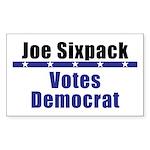 Joe Democrat - Rectangle Sticker