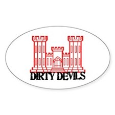 Dirty Devils Oval Decal