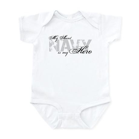 Aunt is my Hero NAVY Infant Bodysuit