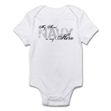 Aunt is my Hero NAVY Infant Bodysuit