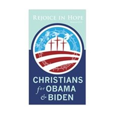 Christians for Obama Rectangle Decal