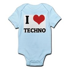 I Love Techno Infant Creeper