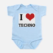 I Love Techno Infant Creeper