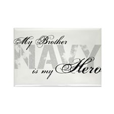 Brother is my Hero NAVY Rectangle Magnet