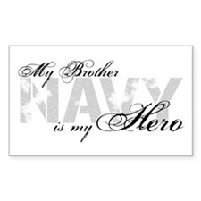 Brother is my Hero NAVY Rectangle Decal
