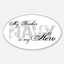 Brother is my Hero NAVY Oval Decal