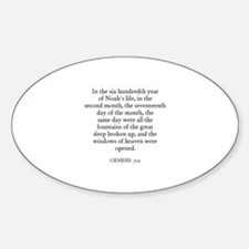 GENESIS 7:11 Oval Decal